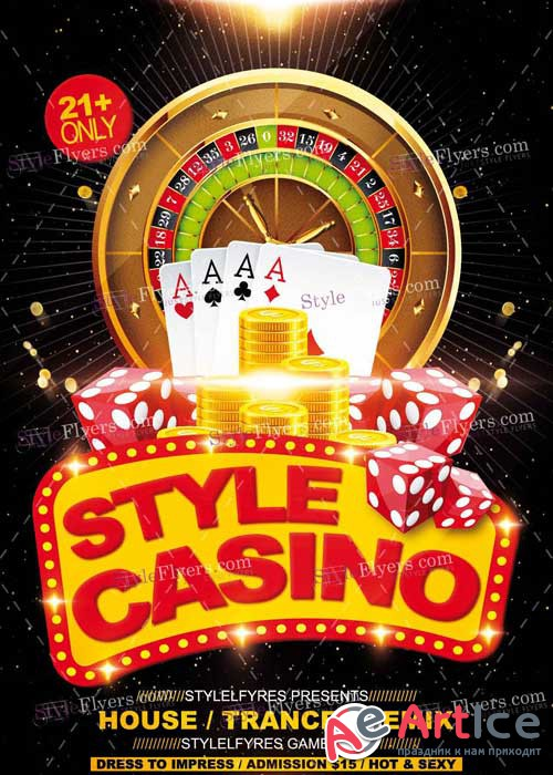 Casino PSD V14 Flyer Template