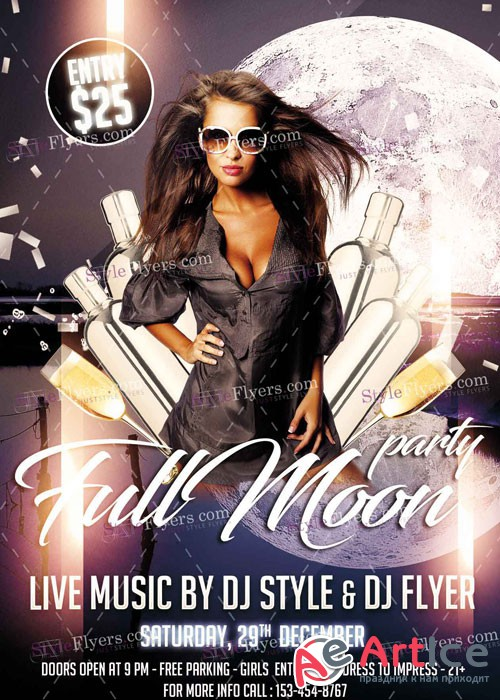 Full Moon Party PSD V9 Flyer Template