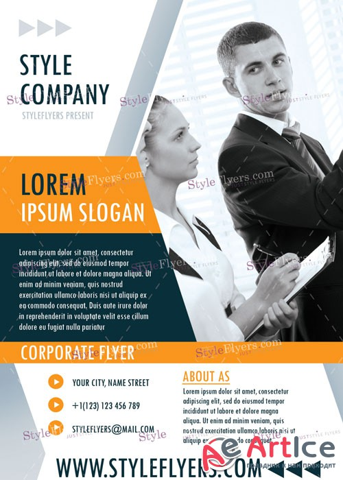 Corporate PSD V20 Flyer Template