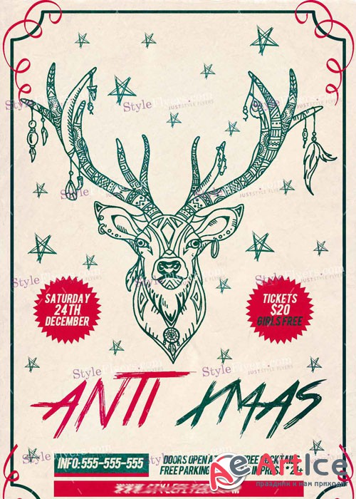 Anti Xmas PSD V7 Flyer Template