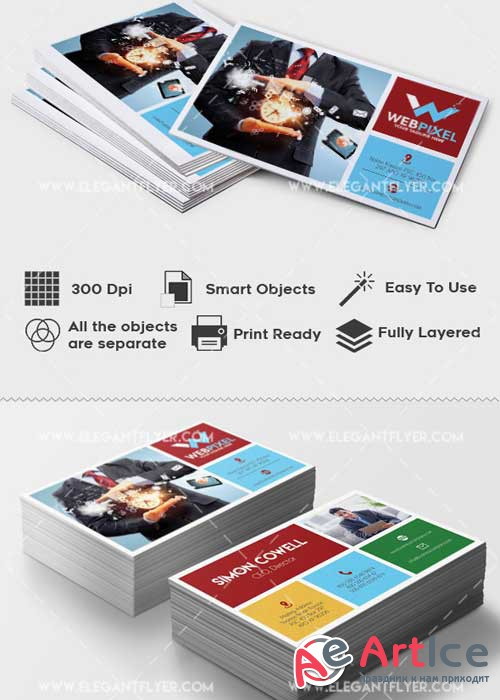 Corporate Premium Business card PSD V15 Template