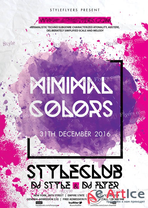 Minimal Colors Flyer V5 PSD Flyer Template