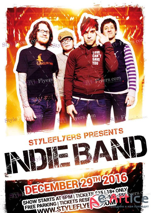 Indie Band V9 PSD Flyer Template