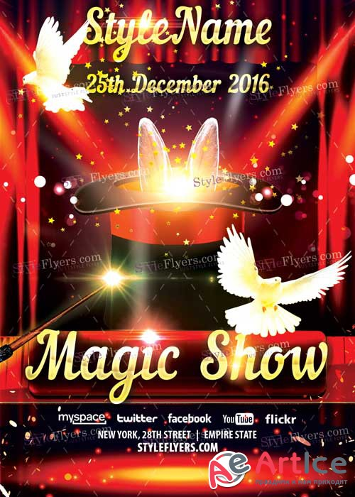 Magic Show PSD V9 Flyer Template
