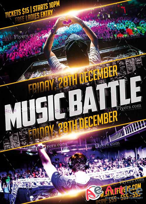 Music Battle PSD V2 Flyer Template