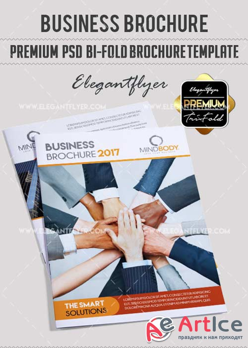Business Premium Bi Fold PSD V8 Brochure Template