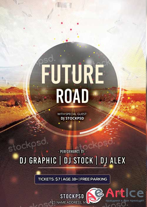 Future Road PSD V5 Flyer Template