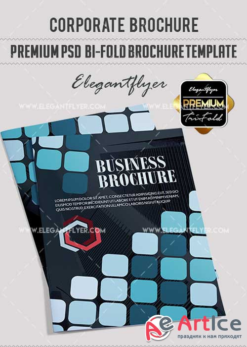 The Corporate Premium Bi-Fold PSD V5 Brochure Template