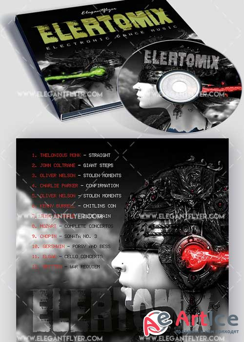 Electromix Premium CD Cover PSD V2 Template