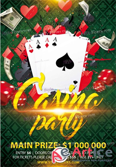 Casino Party PSD V19 Flyer Template