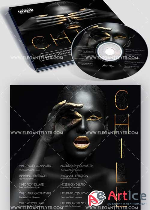Indie Chill Premium CD Cover PSD V7 Template