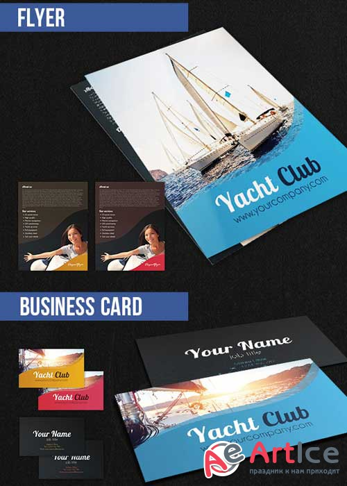 Yacht Club Brochure Pack PSD V1 Template