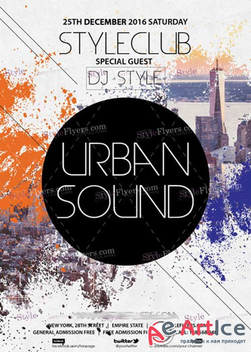 Urban Sound PSD V10 Flyer Template