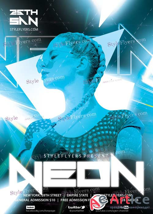 Neon PSD V7 Flyer Template