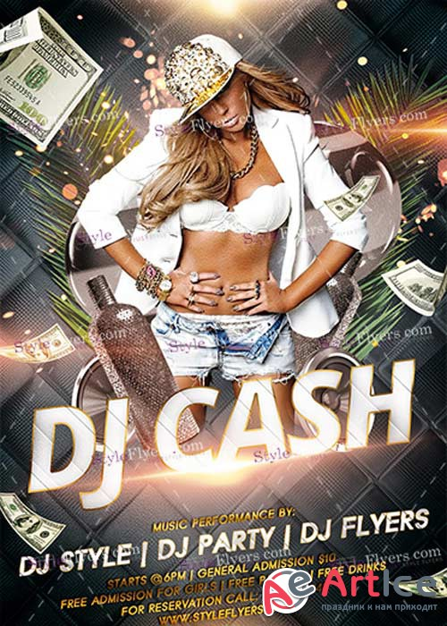 DJ Cash PSD V14 Flyer Template