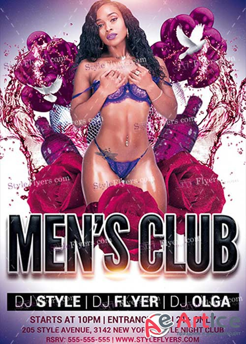 Mens Club PSD V5 Flyer Template