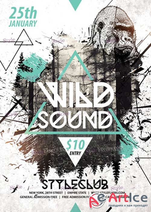 Wild Sound PSD V9 Flyer Template