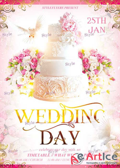 Wedding Day PSD V11 Flyer Template
