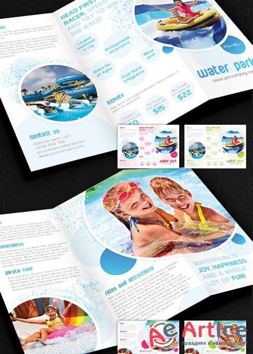 Water Park Brochure Pack PSD V2 Template