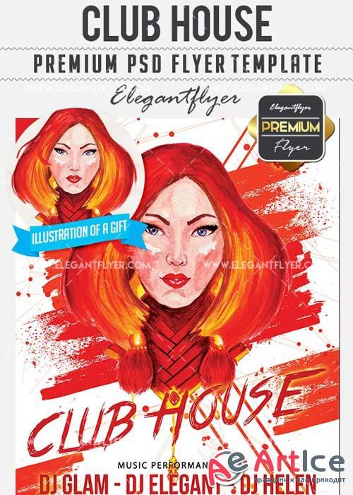 Club House Flyer PSD V18 Template + Facebook Cover