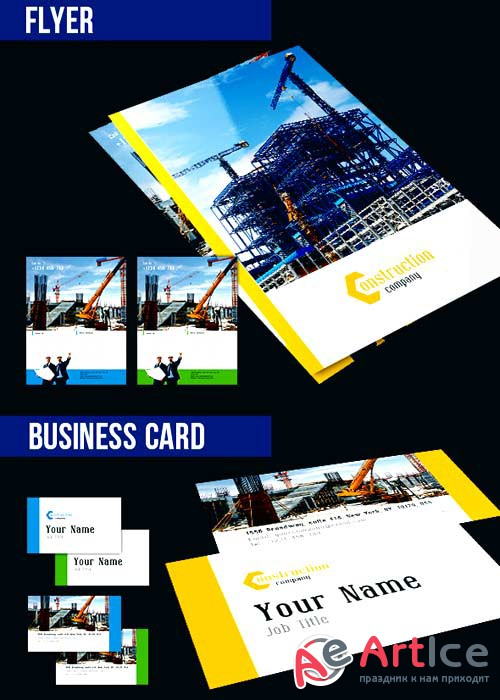 Construction Brochure Pack PSD V3 Template