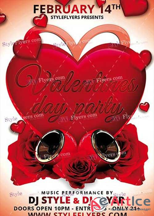 Valentines Day Party PSD V14 Flyer Template