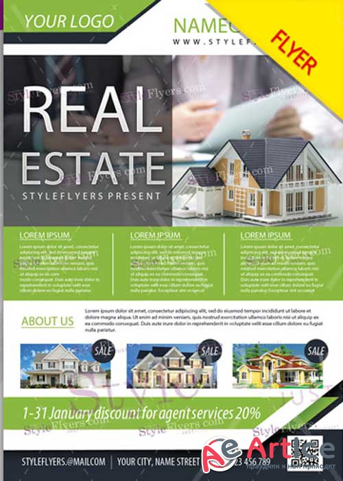 Real Estate PSD V02 Flyer Template