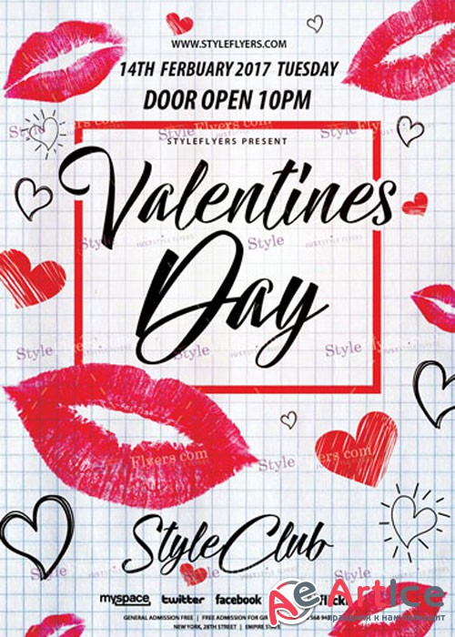 Valentines Day PSD V11 Flyer Template