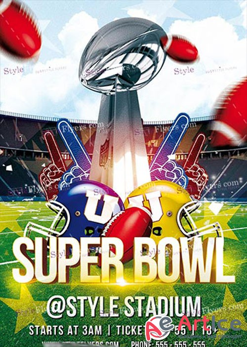 Super Bowl PSD V12 Flyer Template