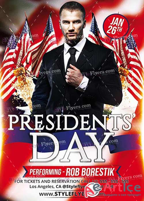 Presidents Day PSD V5 Flyer Template