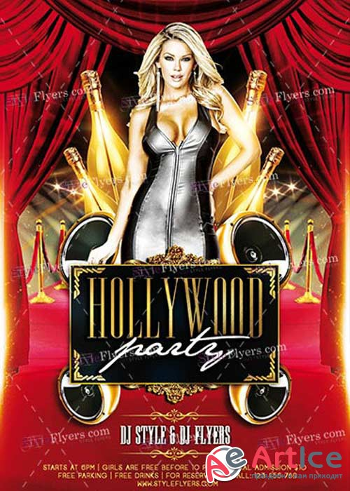 Hollywood Party PSD V7 Flyer Template