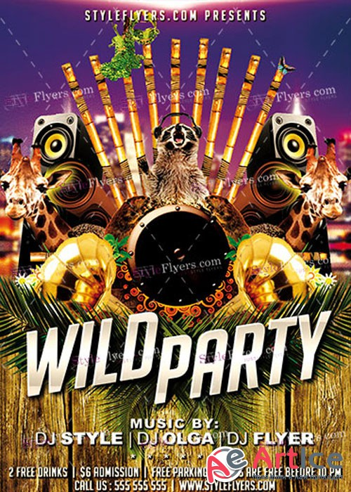 Wild Party PSD V14 Flyer Template