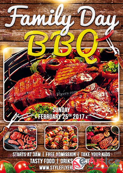 Family Day BBQ PSD V4 Flyer Template