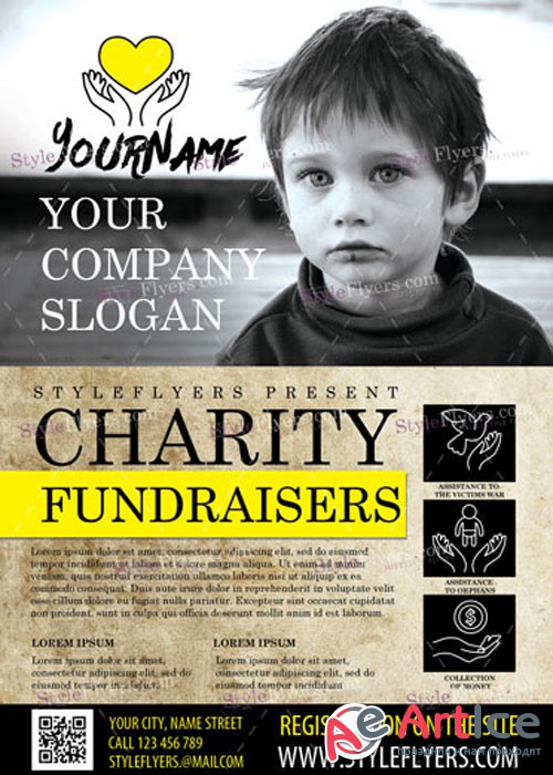 Charity Fundraisers PSD V5 Flyer Template