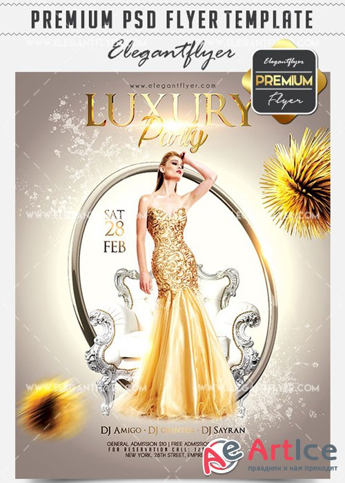 Luxury Party Flyer PSD V02 Template + Facebook Cover