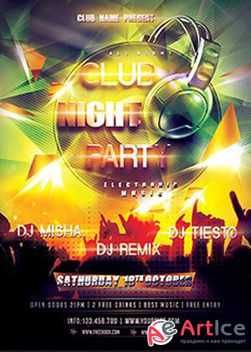 Nightclub Flyer Template V11 Flyer Template