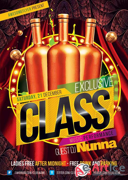 Exclusive Class V5 Flyer Template