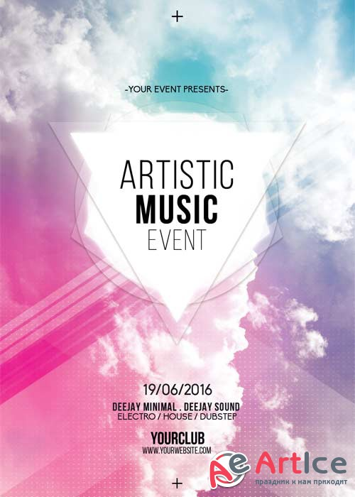 Clouds Music V5 Flyer Template