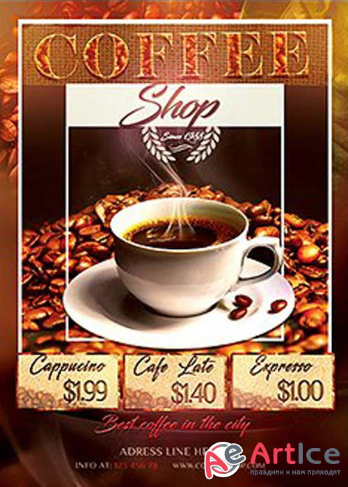 Coffee Shop V10 Flyer