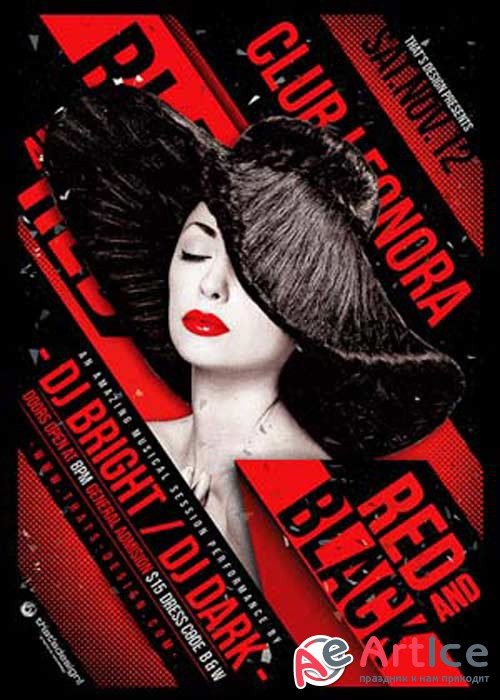 Black and Red V1 Flyer Poster Template
