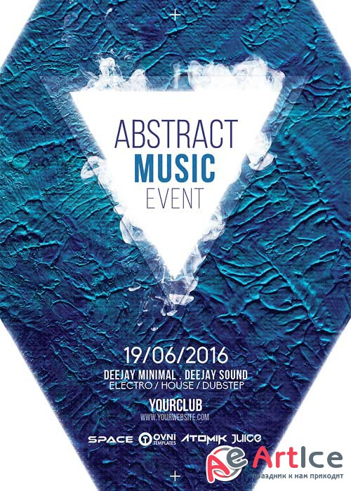 Abstract Music V5 Flyer Template
