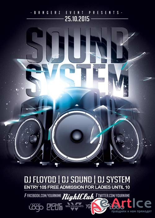 Sound System Party V5 Flyer Template