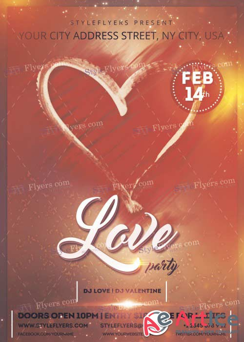 Love Party V12 PSD Flyer Template