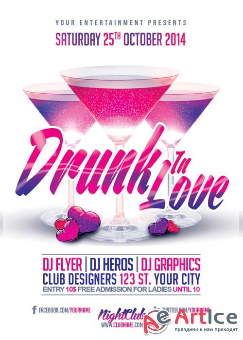 Drunk Love Flyer V11 Flyer Template