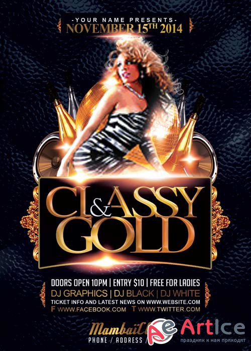 Classy And Gold V5 Flyer Template