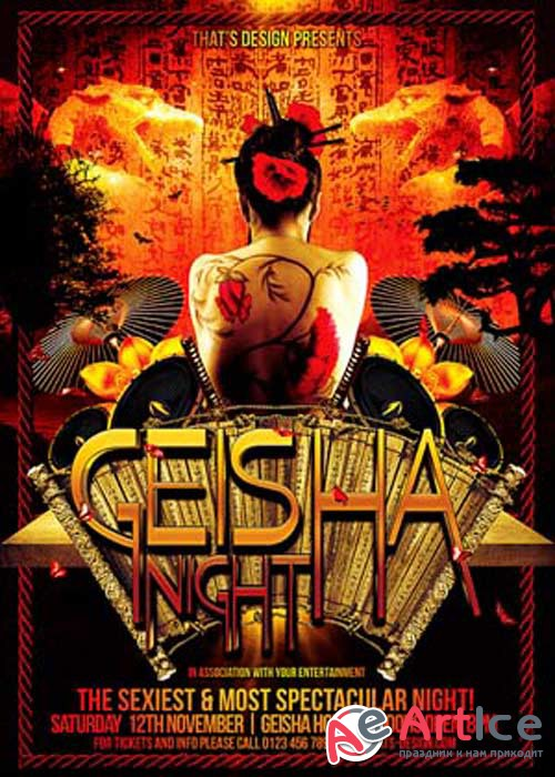 Geisha Night V11 Flyer Template