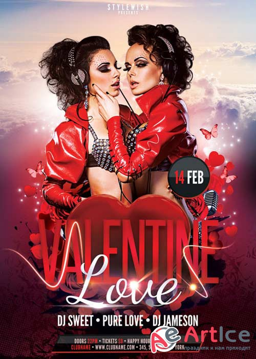 Valentine Love V11 Flyer Template