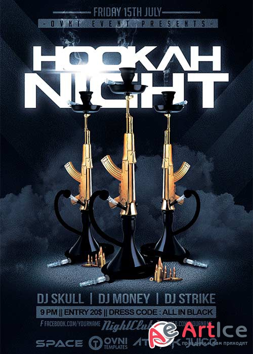 HOOKAH NIGHT V7 Flyer Template