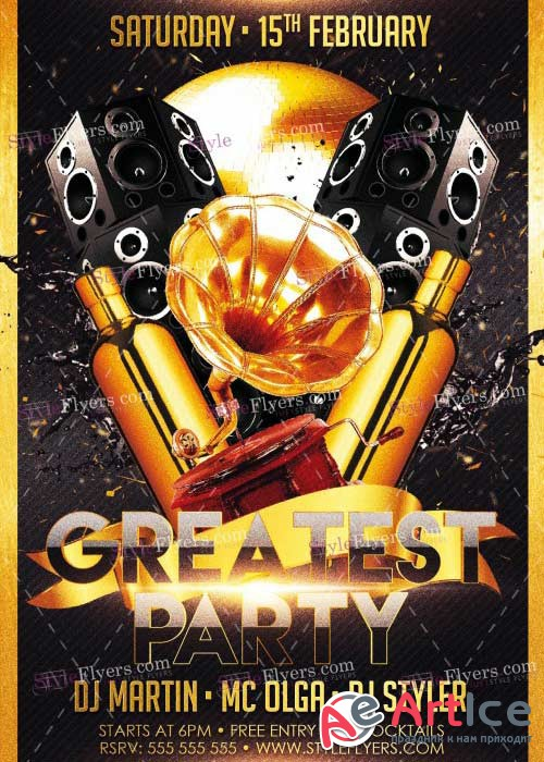 The Greatest Party V7 PSD Flyer Template