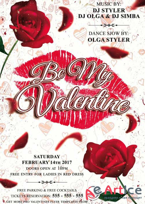 Be My Valentine V11 PSD Flyer Template